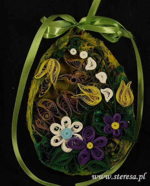 zawieszka quillingowa ręcznie robione jajo