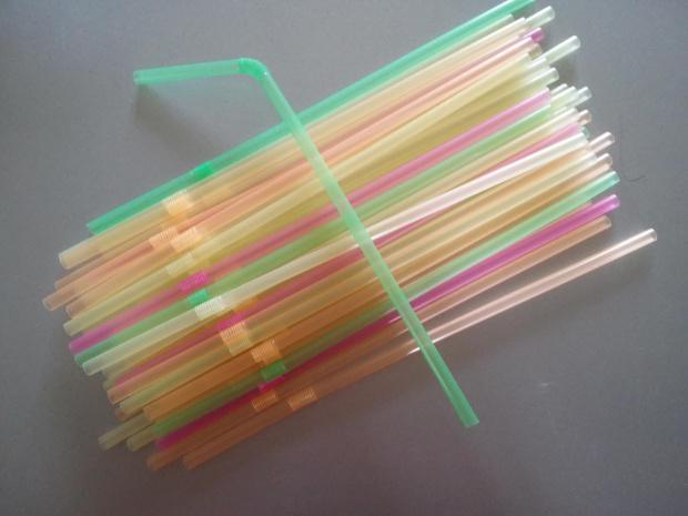 Słomki rurki do napojów łamane pastelowe 40 sztuk