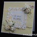 kartka ślubna ręcznie robiona # steresa #rumia