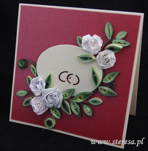 Steresa1 Kartki ślubne Ręcznie Robione Quilling I Scrapbooking
